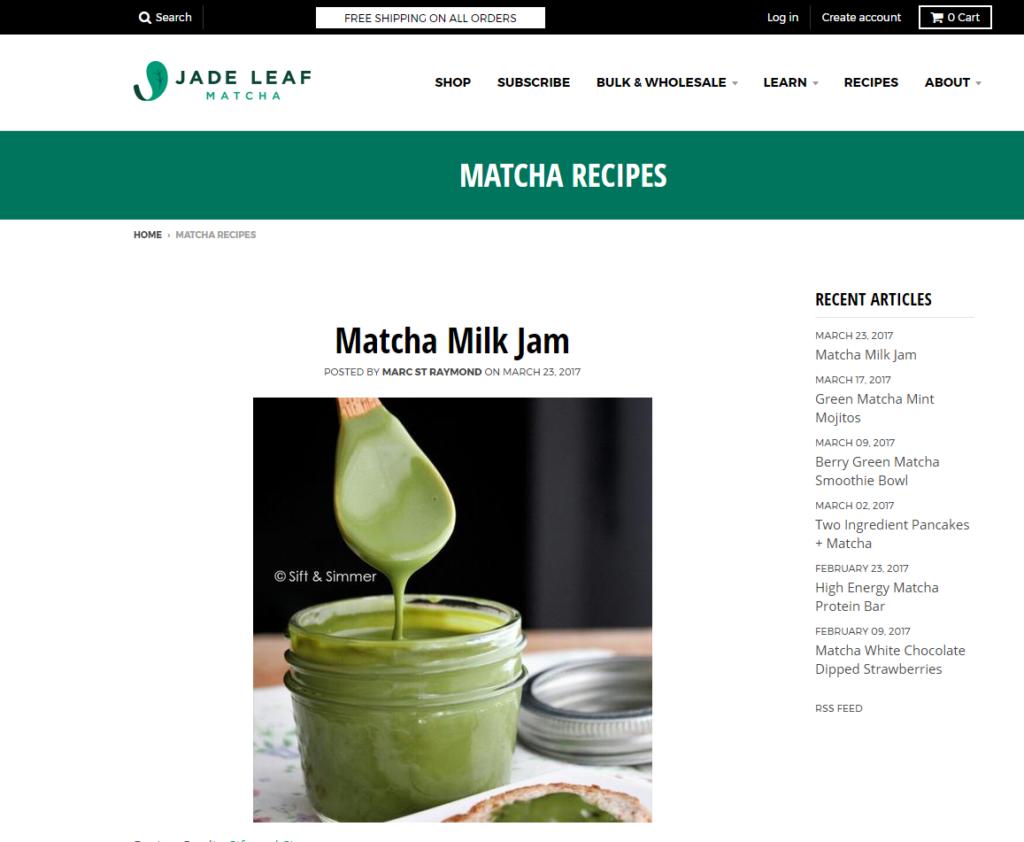 Matcha Milk Jam