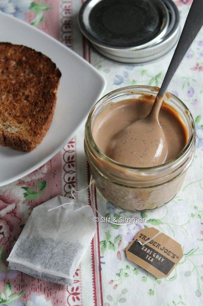 Earl Grey Milk Jam Spread with spoon.