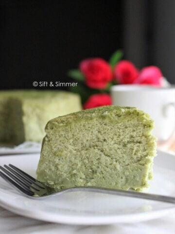 Matcha Cotton Cheesecake | Sift & Simmer