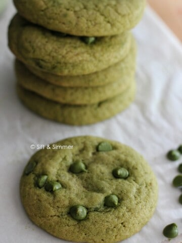 Matcha Chocolate Chip Cookie | Sift & Simmer