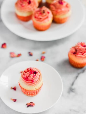 Rose Raspberry Lychee Cupcakes3 | Sift & Simmer