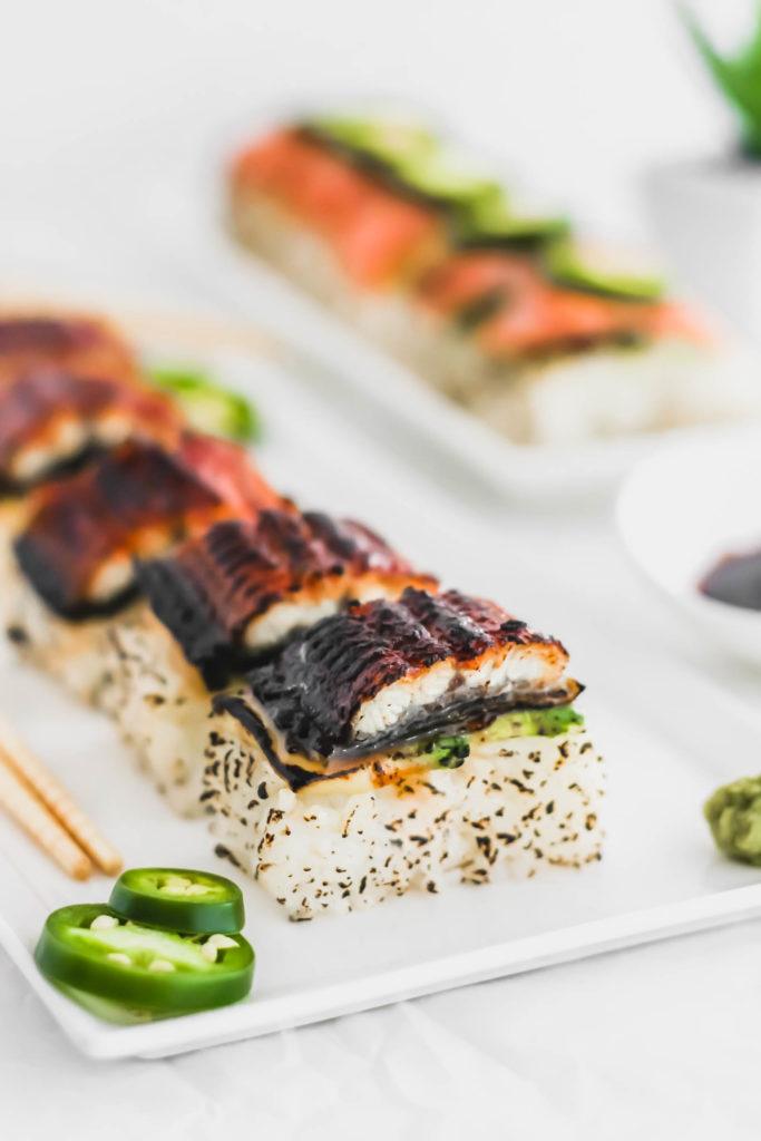 Aburi-Style Smoked Salmon Oshi Sushi6