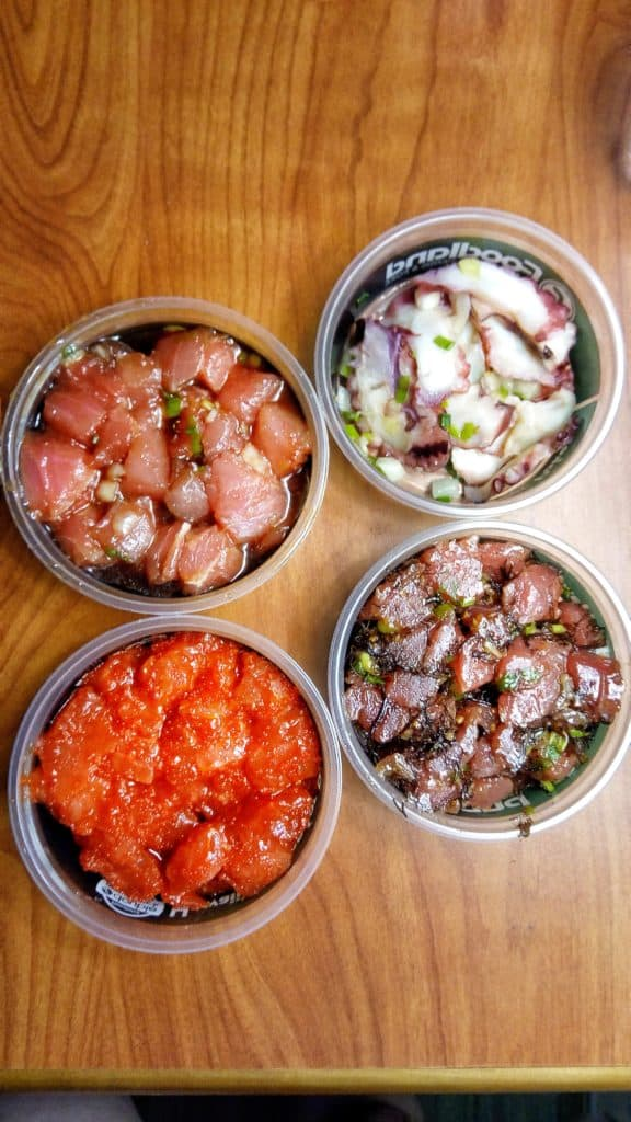 Assorted poke from Foodland