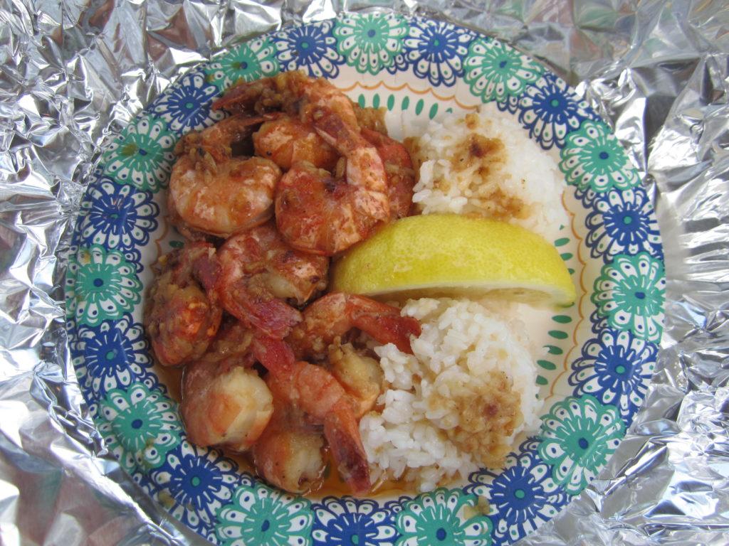 Shrimp platter from Giovanni's shrimp truck