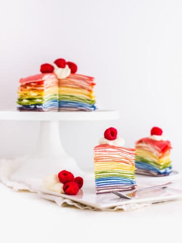 All-Natural Rainbow Mille Crepe Cake2 | Sift & Simmer