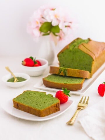 Most Delicious Matcha Pound Cake4 | Sift & Simmer