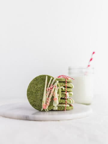Matcha White Chocolate Peppermint Cookies1 | Sift & Simmer