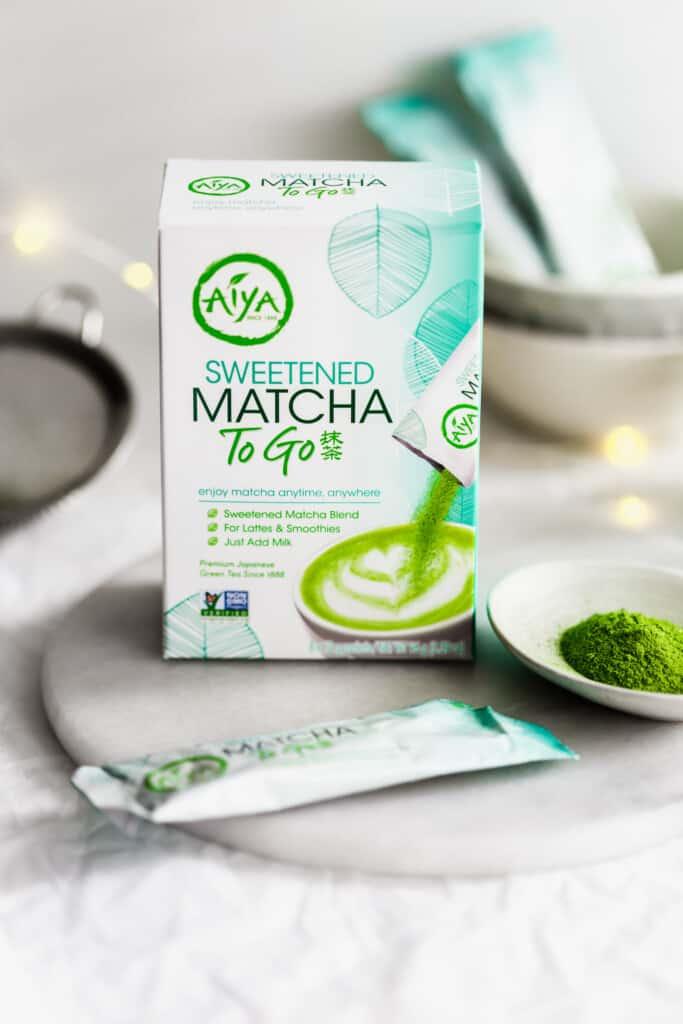 Aiya Matcha packaging.