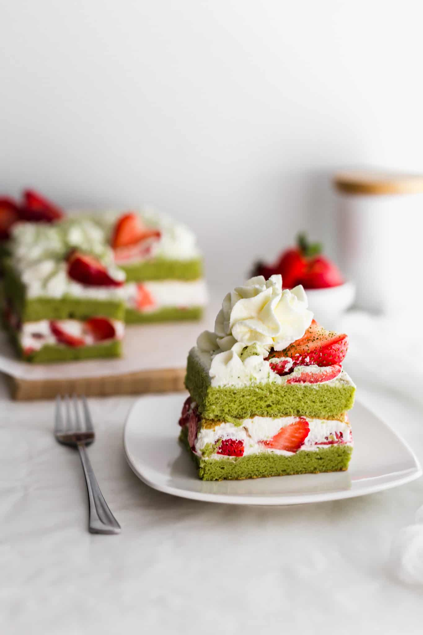 Matcha Strawberry Shortcake Sift Simmer